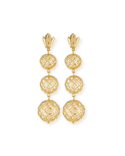 Tiered Pineapple Drop Earrings