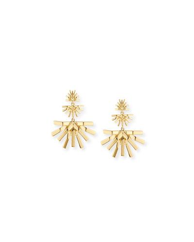 Palm Grass Chandelier Earrings