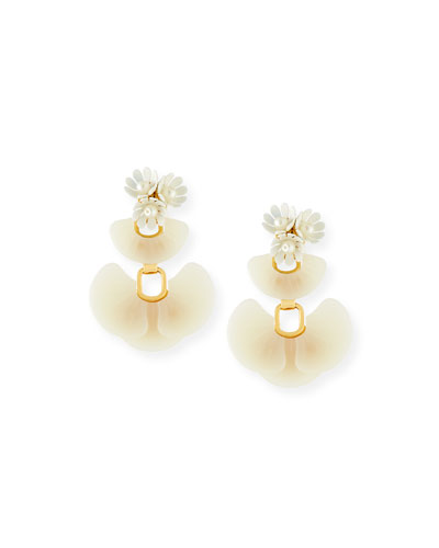 Island Crystal Drop Earrings, White