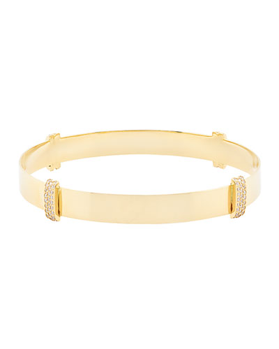Diamond Wrap Bangle in 14K Gold