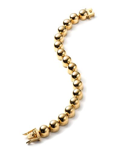 12K Gold-Plated Dome Bracelet