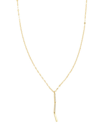 Flawless Vol. 6 14K Drop Necklace with Diamonds