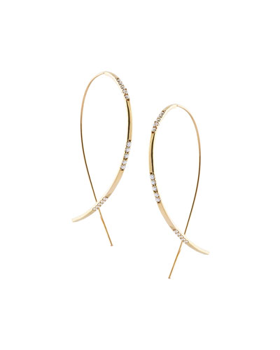 Large Flawless Vol. 6 Diamond Upside Down Earrings in 14K Gold