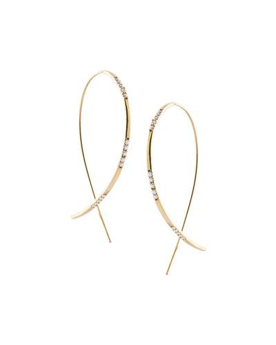 Large Flawless Vol. 6 Diamond Upside Down Earrings in 14K Gold