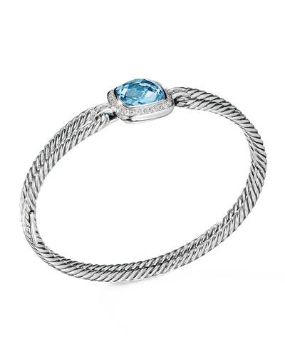 Albion Bracelet with Blue Topaz and Diamonds
