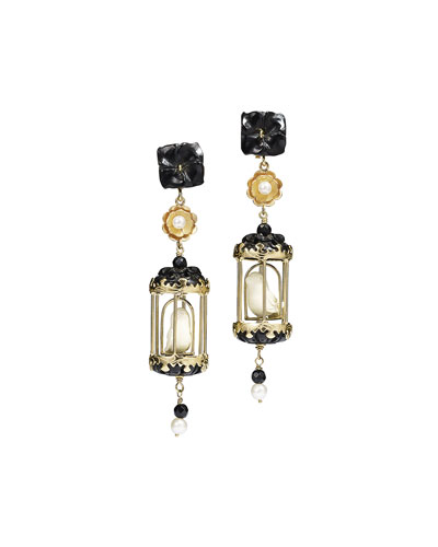Aviary Classic Carved Drop Earrings