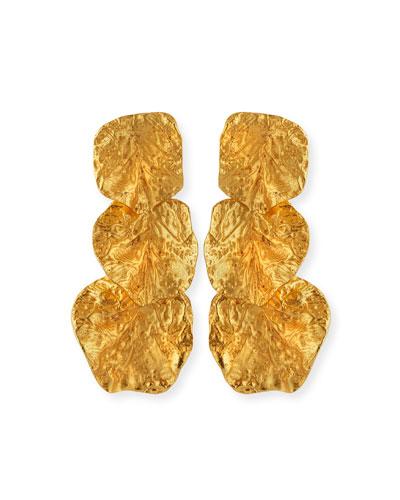 Rock Triple-Drop Earrings