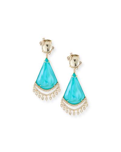 Crystal Lace Liquid Chandelier Earrings