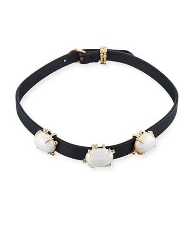 Multi-Station Leather Bracelet