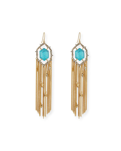 Crystal Fringe Tassel Earrings