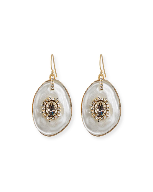 Liquid Crystal Earrings, Silver