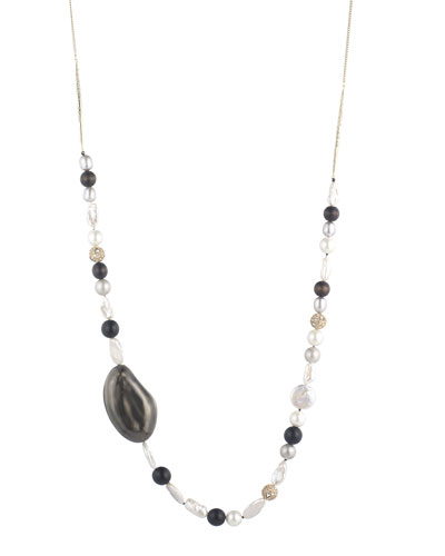 Liquid Beaded Single-Strand Necklace