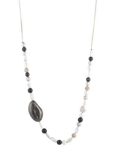 Liquid Beaded Single-Strand Necklace