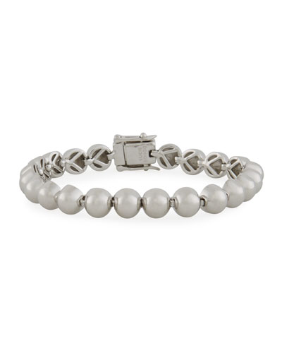 Sterling Silver Dome Bead Bracelet