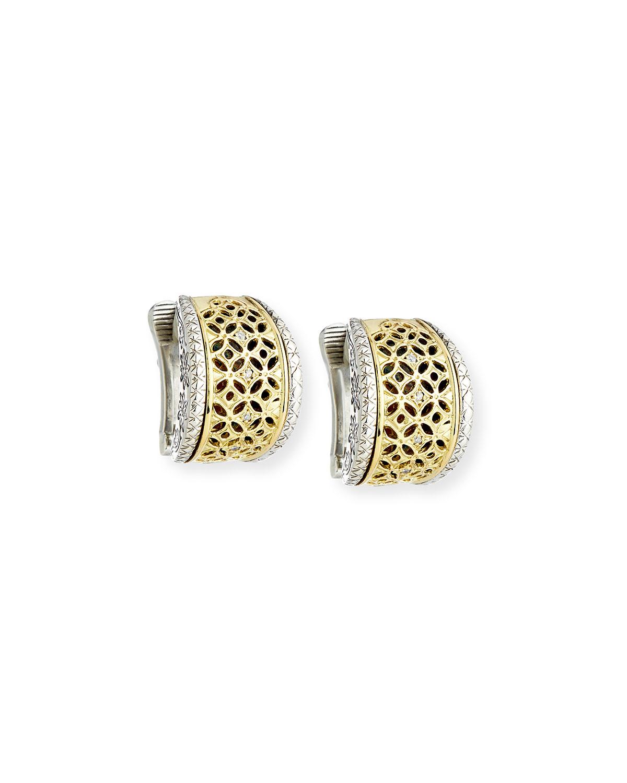 Filigree Clip-On Hoop Earrings