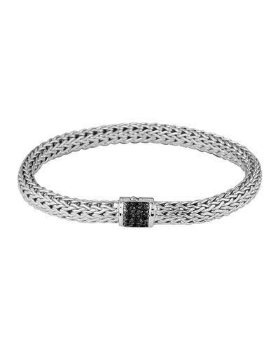 Black Sapphire Classic Chain Bracelet, Small