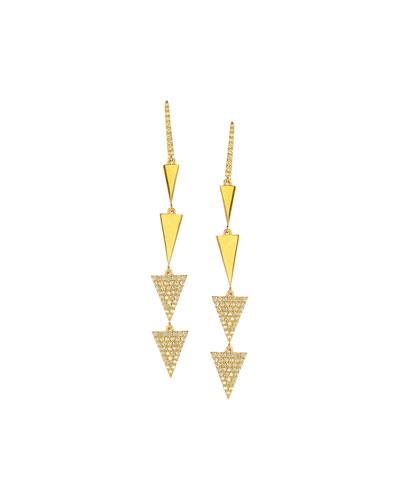 Electric Pavé Diamond Spike Drop Earrings