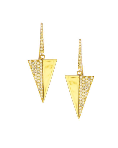 Electric Pavé Diamond Triangle Earrings