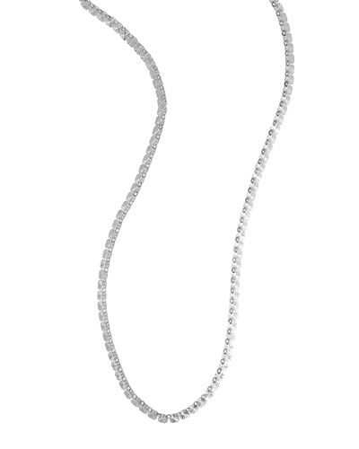 14K White Gold Metallic Chain Necklace, 40