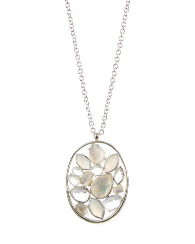 Rock Candy® Sterling Silver Cluster Pendant Necklace in Flirt, 33