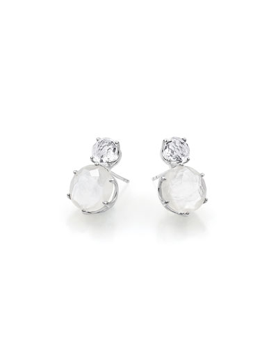 Rock Candy Two-Stone Earrings in Oyster