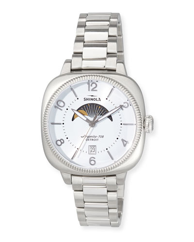 36mm Women's Gomelsky Moon Phase Watch, White