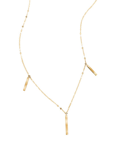 Nude Gloss Link Necklace in 14K Gold
