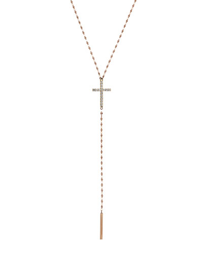 Crossary 14K Rose Gold Necklace with Diamonds