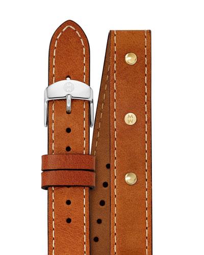 Calf Leather Watch Strap, Saddle