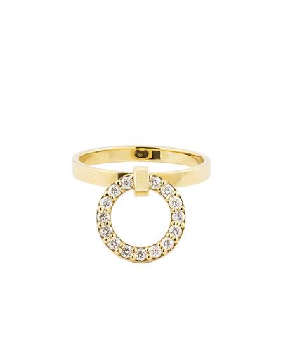 Lana Diamond Link Drop Ring, Size 7