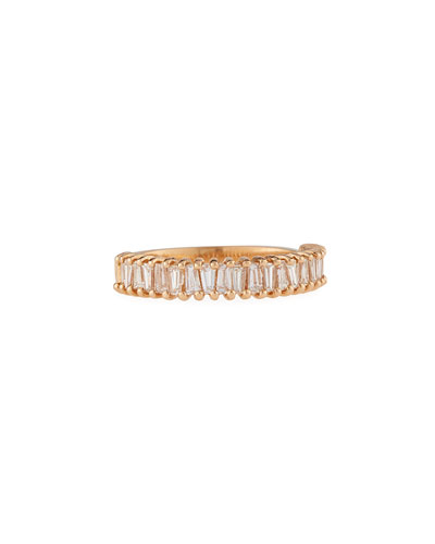 Multi Diamond Baguette Stacking Ring in 18K Rose Gold