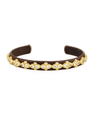 Armenta New World White Bone Bead Bracelet w/Diamonds JGWeQC