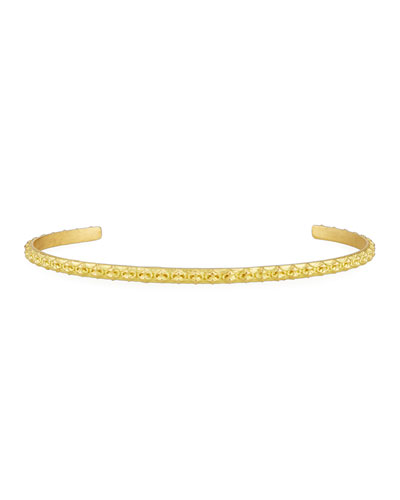 Sueno Crivelli Slim 18K Bangle Bracelet