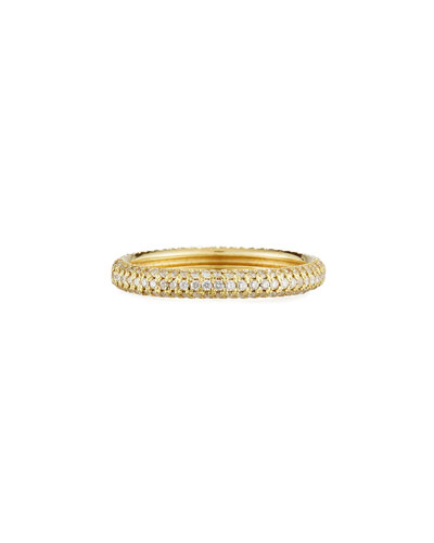 Old World Sueno 18K Band Ring with Champagne Diamonds