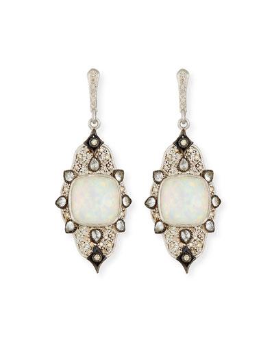 New World Midnight Triplet Drop Earrings with Diamonds