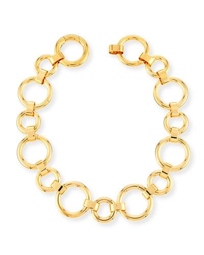 Moneta Circle Link Choker Necklace