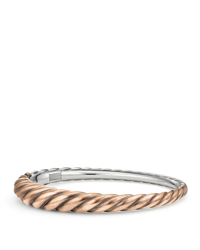 Pure Form Bronze Cable Bracelet