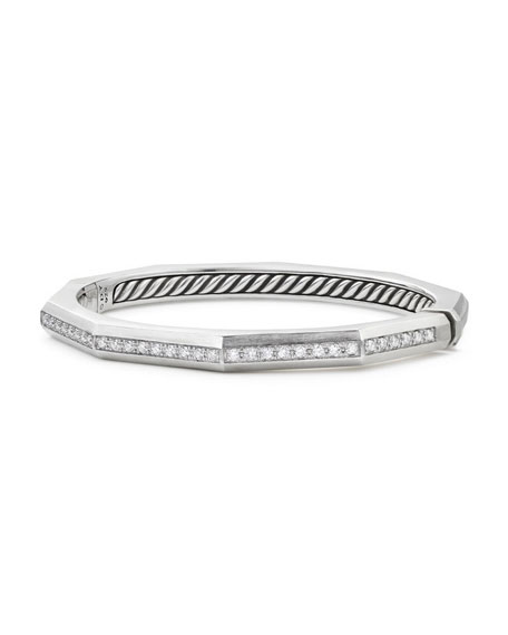 David Yurman Stax Faceted Cuff Bracelet with Diamonds