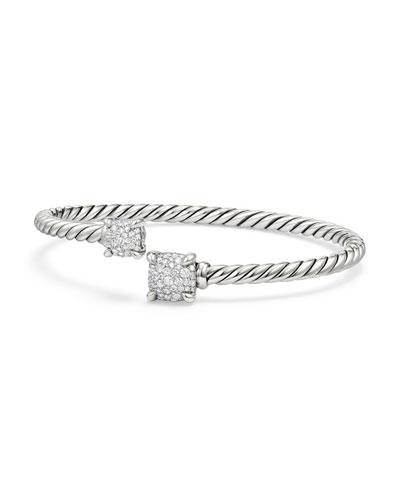 Châtelaine Pave Diamond Bypass Bracelet