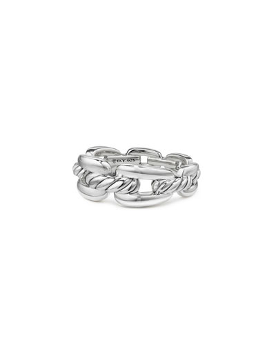 Wellesley Sterling Silver Chain Link Ring