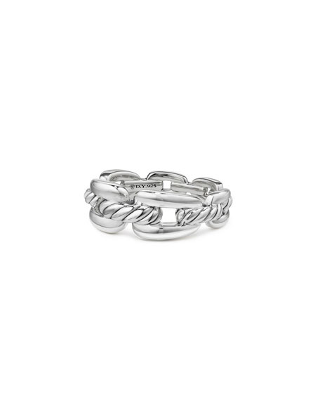 David Yurman Wellesley Sterling Silver Chain Link Ring