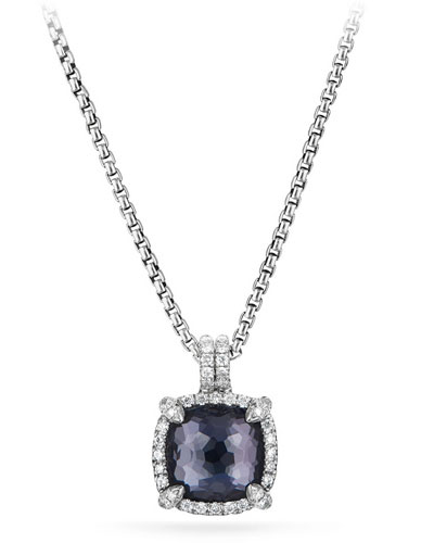 Châtelaine Faceted Lavender Amethyst & Hematite Pendant Necklace with ...