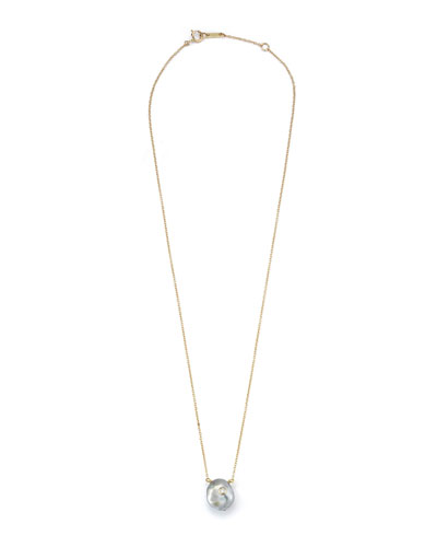 Sea of Beauty Tahitian Keshi Pearl & Diamond Pendant Necklace