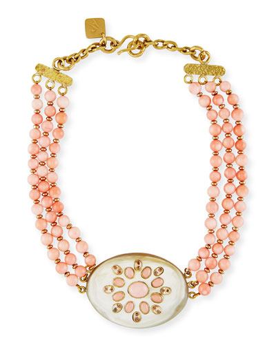 Bendi Beaded Coral Necklace