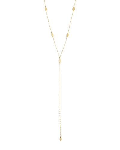 Long Ombre Kite Lariat Necklace