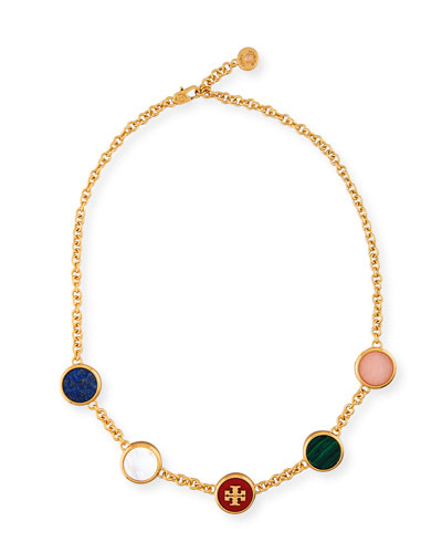 Multicolor Round Station Necklace
