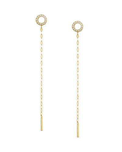 Diamond Circle Duster Earrings