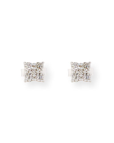 Prong-Set Diamond Flower Earrings