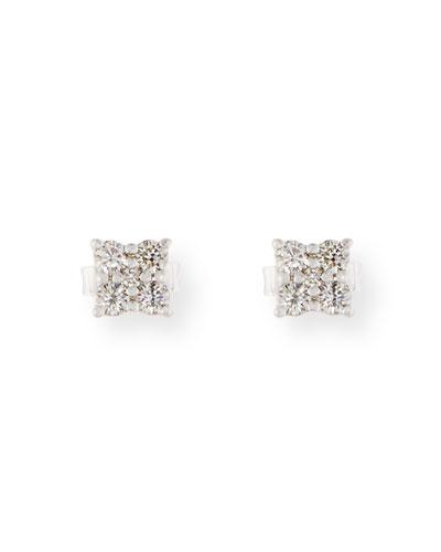 Bessa Black Agate & Diamond Flower Earrings inltmcO4Ff