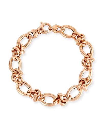 18K Rose Gold Link Bracelet